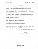 Ảnh hưởng của một số loại phân bón lá ( Fish Plus Bloom, Solotek Bloom, Đầu Trâu 502 ) đến sự sinh trưởng phát triển và năng suất chất lượng dưa Lê Ngân Huy trồng vụ Xuân-Hè 2009 tại Hải Phòng
