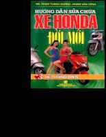 Hướng dẫn sửa chữa điện xe máy Honda đời mới