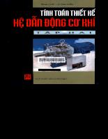 Tính toán thiết kế Hệ dẫn động cơ khí