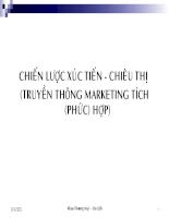 Bài giảng Marketing căn bản (9)