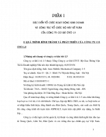 Công tác tổ chức bộ máy kế toán của công ty cơ khí o oto 1/5