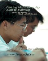 Chương trình giảng dạy kinh tế Fulbright