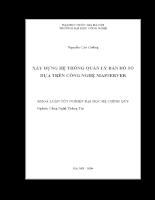 Xây dựng hệ thống quản lý bản đồ số dựa trên công nghệ mapserver