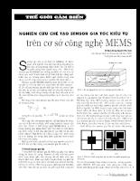 Nghiên cứu chế tạo Sensor gia tốc kiểu tụ trên cơ sở công nghệ Mems