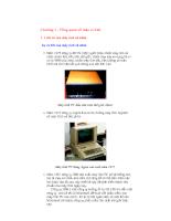 Giáo trình phần cứng  - Chương 1 -Tổng Quan