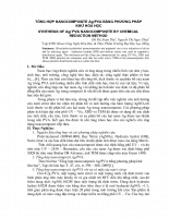 Nghiên cứu sản xuất starter của nấm Mucoz và ứng dụng trong sản xuất chao phần 2