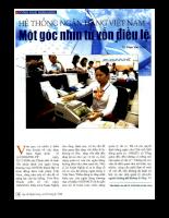 Hệ thống ngân hàng Việt Nam - Một góc nhìn từ vốn điều lệ