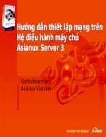 Hướng dẫn thiết lạp mạng trên Hệ điều hành máy chủ Asianux Server.
