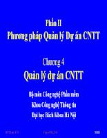 Phương pháp quản lí dự án CNTT