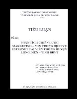 Phân tích chiến lược marketing – mix trong dịch vụ internet tại viễn thông huyện long điền – tỉnh brvt.doc