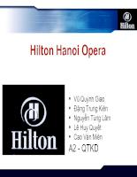 Chiến lược kinh doanh của khách sạn hilton hanoi opera slide