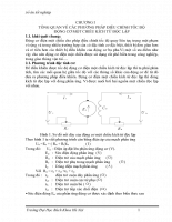 Phương pháp điều chỉnh tốc độ động cơ một chiều kích từ độc lập