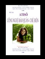 Atiso - Công nghệ bảo quản và chế biến