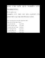Nghiên cứu nhu cầu mua laptop của sinh viên tại thị trường đà nẵng