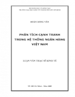Phân tích cạnh tranh trong hệ thống ngân hàng thương mại Việt Nam