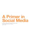 Primer in social media