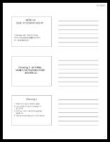 Chương 1 - Tổng quan về Quản trị doanh nghiệp