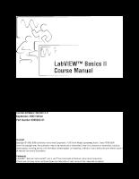 LabVIEW Basics II