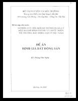 Nghiên cứu đổi mới hệ thống quản lý đất đai để hình thành và phát triển thị trường bất động sản ở Việt Nam Định giá bất động sản.pdf