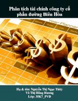 Phân tích tài chính công ty cổ phần đường Biên Hòa
