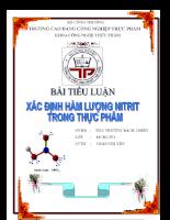 Xác định hàm lượng   nitrit