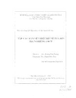 Tập các bản vẽ thiết kế về tua bin tia nghiêng 500w