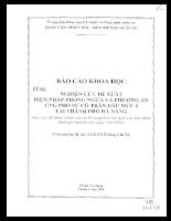 Nghiên cứu đề xuất biện pháp phòng ngừa và phương án ứng phó sự cố tràn dầu mức I tại TP. Đà Nẵng