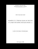 Nghiên cứu tính đa dạng di truyền của một số giống ngô (zea mays l.) .pdf