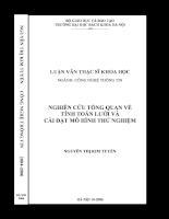Nghiên cứu tổng quan về tính toán lưới và cái đặt mô hình thử nghiệm
