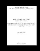 Nghiên cứu ứng dụng hệ điều khiển dự báo để điều khiển nhiệt độ lò nung cán thép liên tục.pdf