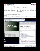 Hướng dẫn cài đặt Oracle 10g trên Asianux server 3