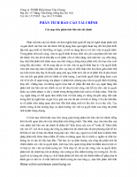 Phân tích báo cáo tài chính của công ty TNHH điện thoại Vân Chung Các mục tiêu phân tích báo cáo tài chính