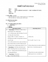 Giáo án Toán học - Lớp 2 - Chu vi hình tam giác, từ giác
