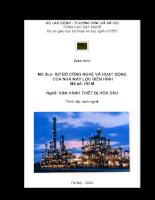 Sơ đồ công nghệ và hoạt động của nhà máy lọc điển hình