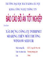 Xây dựng công cụ Internet sharing trên môi trường window server