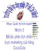 Phân tích chiến lược marketing của hãng coca cola ( slide)