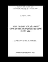 Tăng trưởng GDP và vấn đề nâng cao chất lượng cuộc sống ở Việt Nam