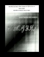 Giáo trình thí nghiệm đo lường điện