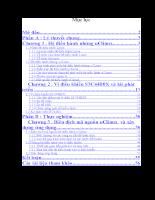 Ứng dụng hệ điều hành mã nguồn mở uClinux
