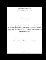 Rèn luyện kỹ năng giải toán cho học sinh bằng phương pháp vecter trong chương trình  Hình Học 10