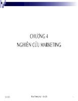 Bài giảng Marketing căn bản (4)