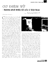 Cơ điện tử - hướng phát triển tất yếu ở Việt Nam