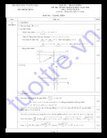 Đáp án đề thi đại học môn toán khối B năm 2010