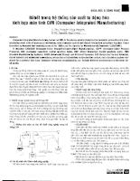 Rô bốt trong hệ thống sản xuất tự động hóa tích hợp máy tính CIM = Computer