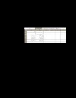 Giáo trình Excel - Chương 2.3