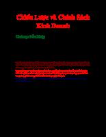 Chiến lược chính sách kinh doanh  chương 1