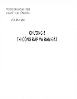 Kỹ thuật thi công - Máy xây dựng Chương 5