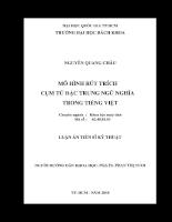Mô hình rút trích cụm từ đặc trưng ngữ nghĩa trong tiếng việt 01