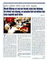 Bảo hiểm tiền gửi tổ chức tín dụng ngân hàng  Bao hiem tien gui to chuc tin dung ngan hang