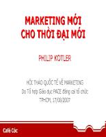 Bài thuyết trình của Philip Kotler - cha đẻ Marketing hiện đại